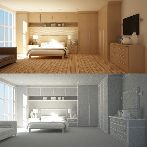 Bedroom Interior 1 - 3DOcean Item for Sale