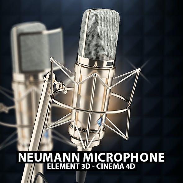 Neumann Mic 3D Model for Element 3D & Cinema 4D