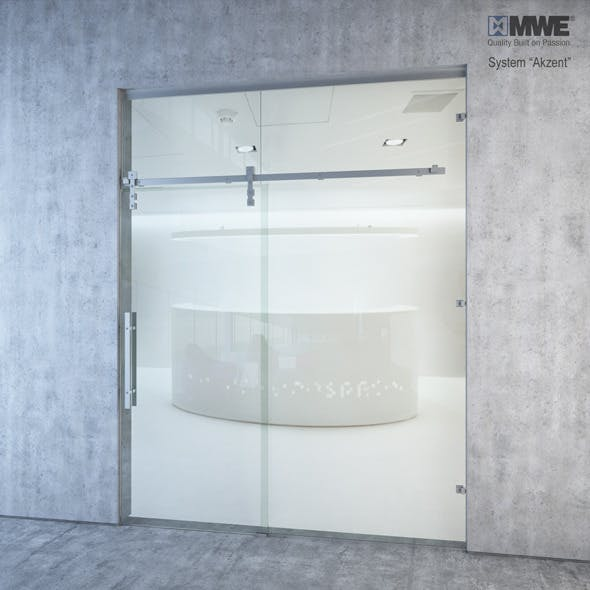 """Sliding door system """"Akzent"""" by MWE factory"""