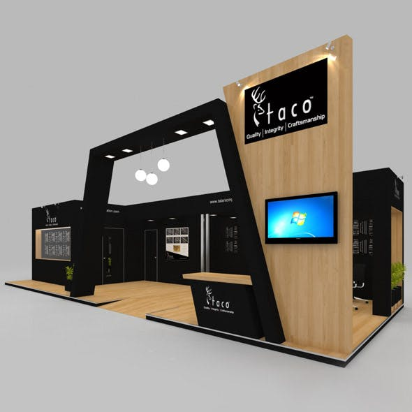 Exhibition Booth 3D Model - 13x5 mtr