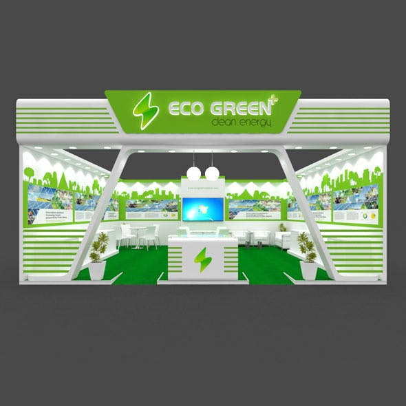 Exhibition Booth 3D Model - 8x8 mtr