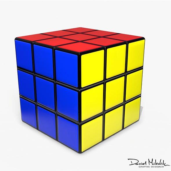 Rubik's Cube Low Poly PBR