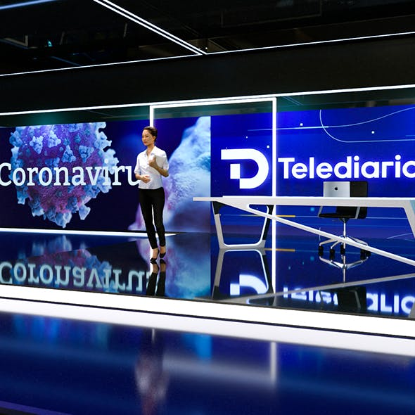 D Telediario News Studio