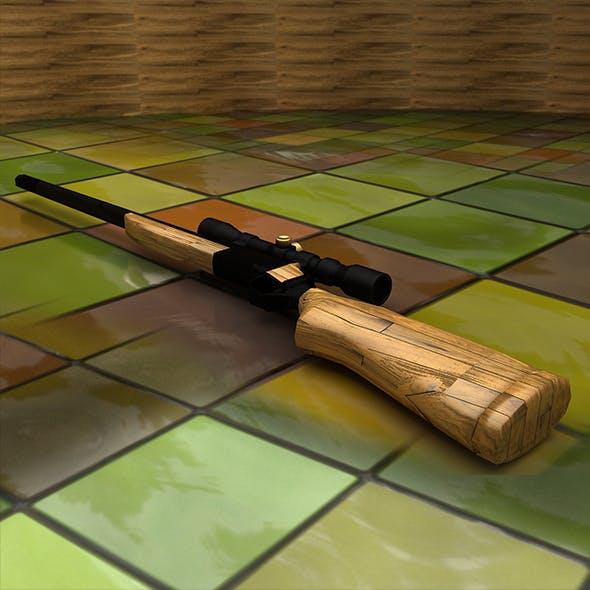3D Low Poly Rifle Gun