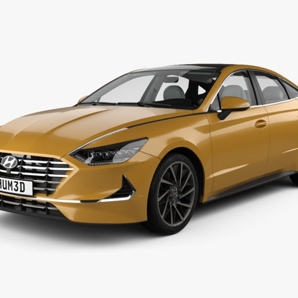 Hyundai Sonata with HQ interior and engine 2020