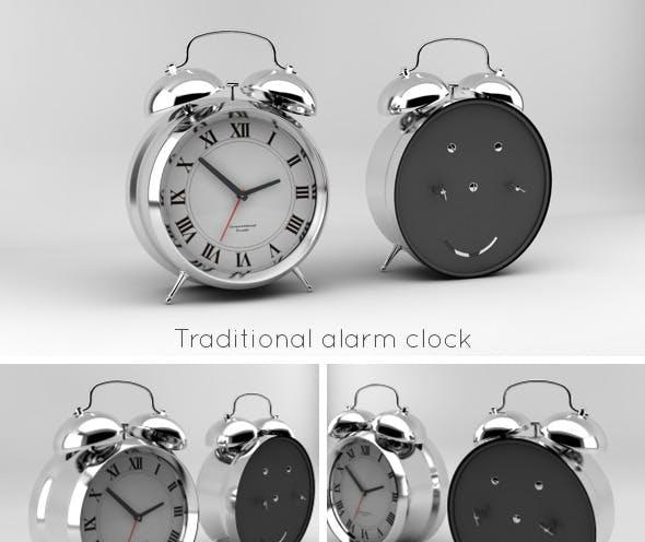 Traditional alarm clock - 3DOcean Item for Sale