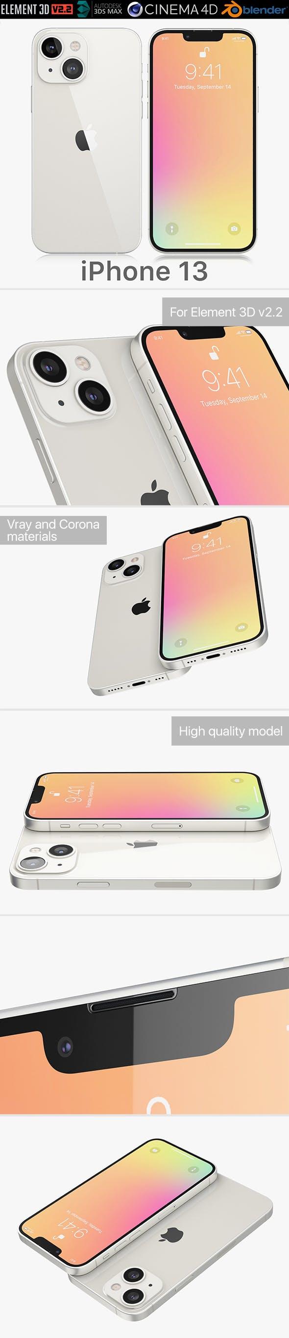 Apple iPhone 13 - 3DOcean Item for Sale
