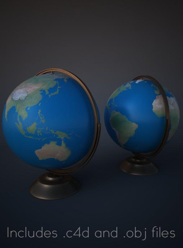 Modern Globe for Cinema 4D - 3DOcean Item for Sale