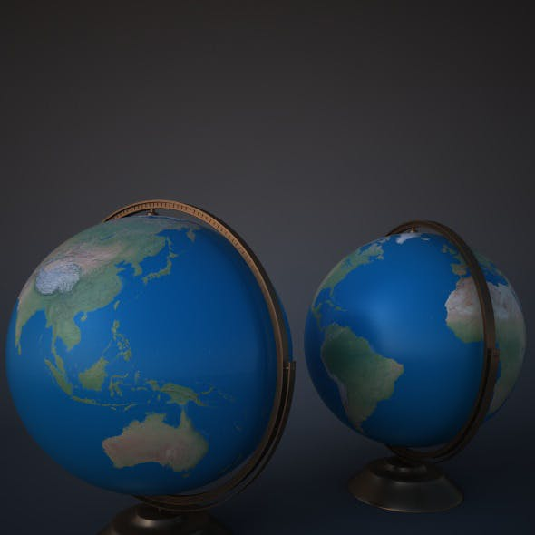 Modern Globe for Cinema 4D