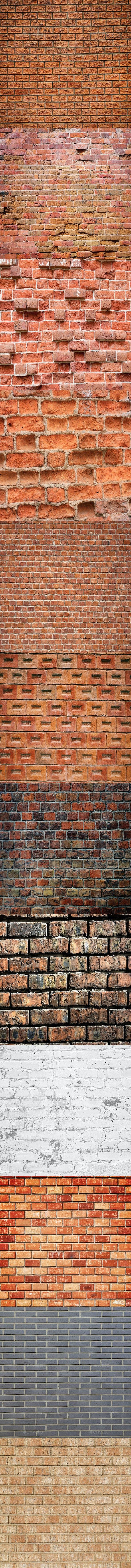 Twelve Brick Wall - 3DOcean Item for Sale