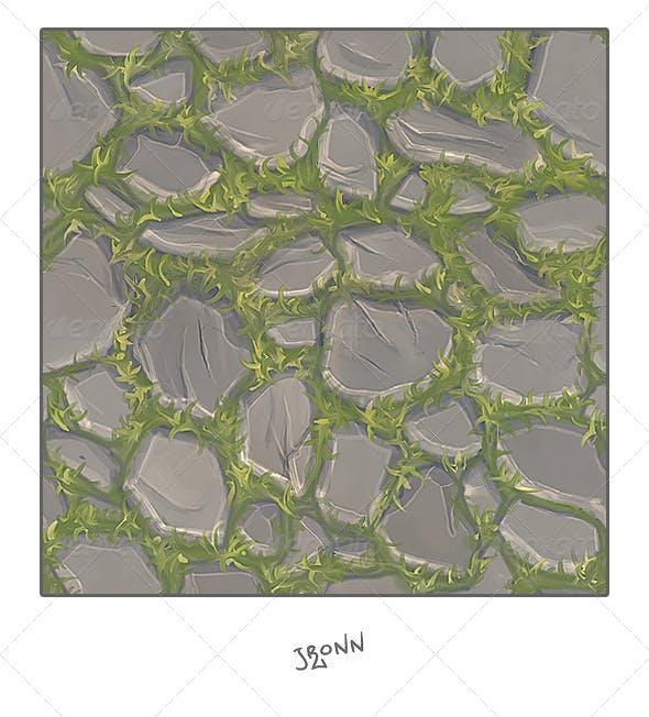 Grassy Stone Road Tile - 3DOcean Item for Sale