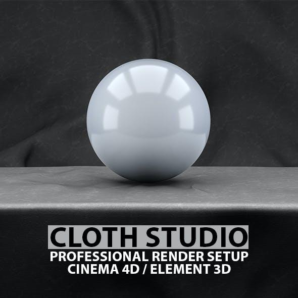 Cloth Studio Render Setup for Cinema 4D & Element 3D