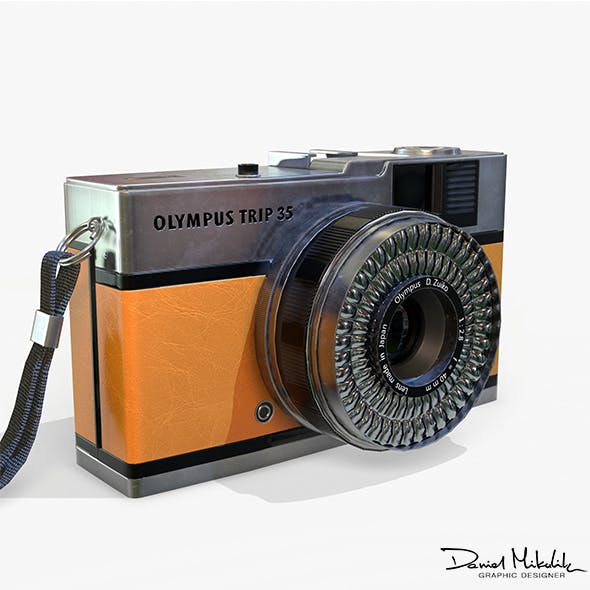 Olympis Trip 35 Camera PBR Low Poly - 3DOcean Item for Sale
