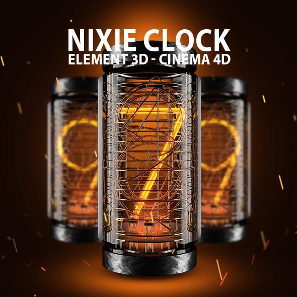 Nixie Clock for Element 3D & Cinema 4D