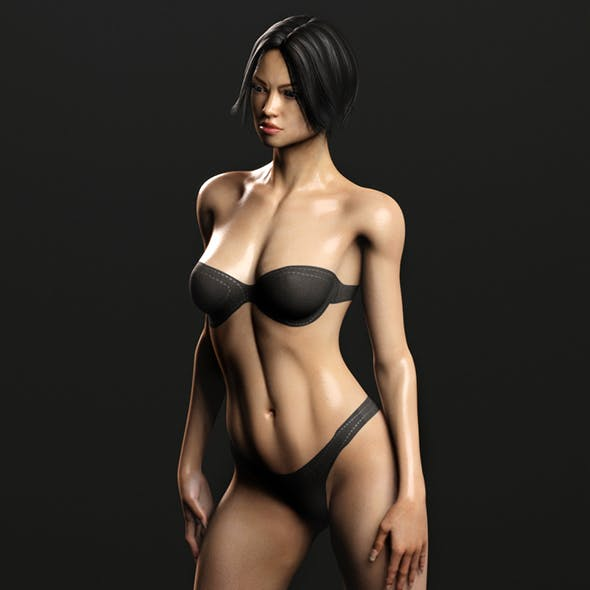 Asian Oriental Female (Fully Rigged)