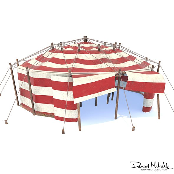 Circus Tent PBR - 3DOcean Item for Sale