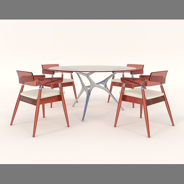 Contemporary Design Table and Chair Set 13