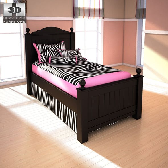 Ashley Jaidyn Twin Poster Bed - 3DOcean Item for Sale