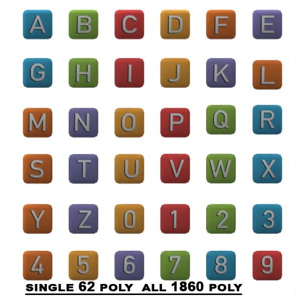 Low Poly Alphabet Block