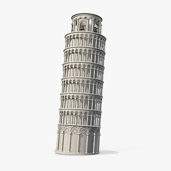 Pisa Tower PBR - 3DOcean Item for Sale