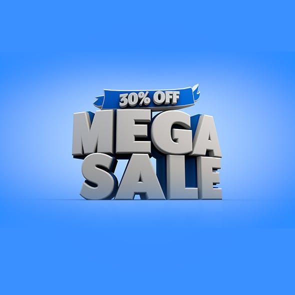 Mega Sale 3D Title