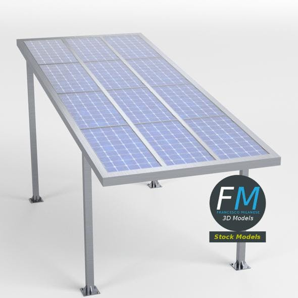 Parking shelter with solar panels