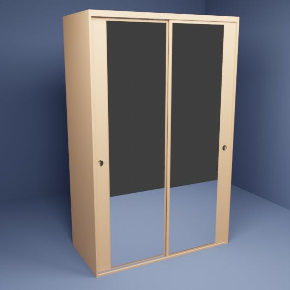 Wardrobe with mirror - 3DOcean Item for Sale