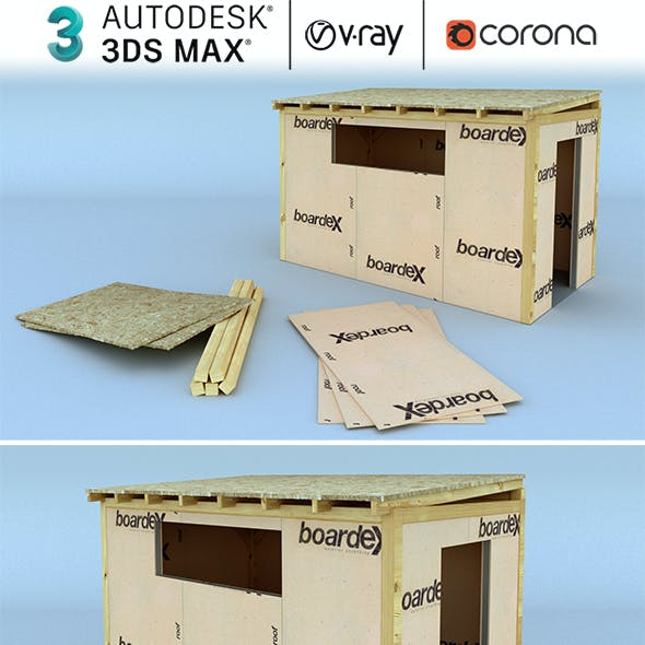 Low Poly Wooden Shack Realistic Design