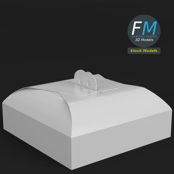 Cake packaging box - 3DOcean Item for Sale