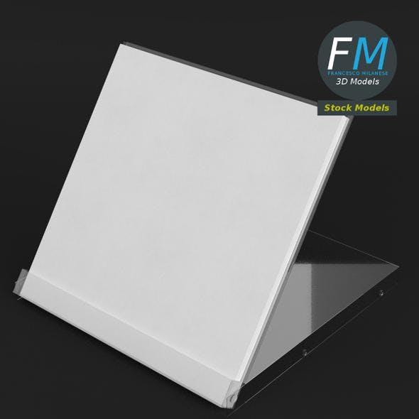 Desktop calendar acrylic case - 3DOcean Item for Sale