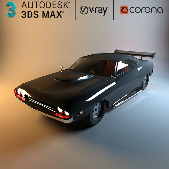 Low Poly Dodge Charger Car 3d model