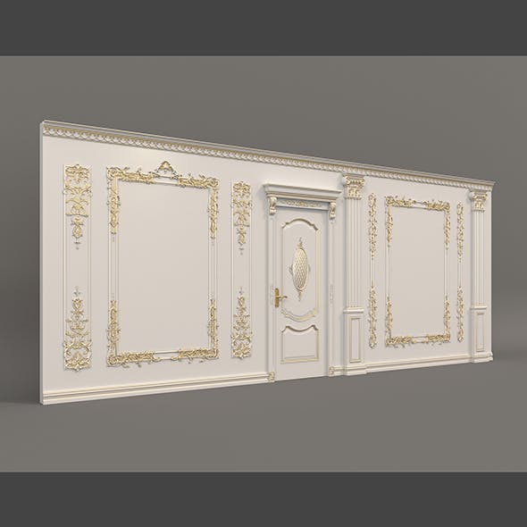 European Style Interior Wall Decoration - 3DOcean Item for Sale