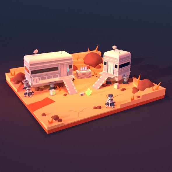 Space base - 3DOcean Item for Sale