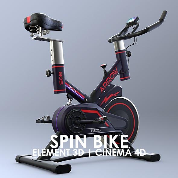 Exercise Spin Bike 3D Model for Element 3D & Cinema 4D