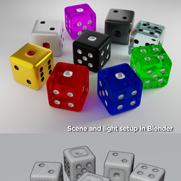 Realistic Dice Pack