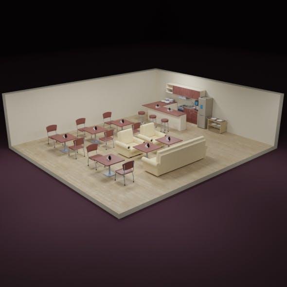 Kitchen, restaurant, canteen - 3DOcean Item for Sale