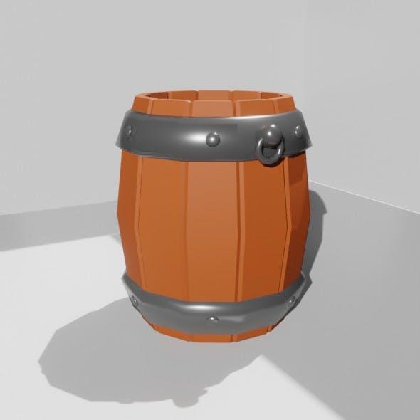 3D Low Poly Barrel Model