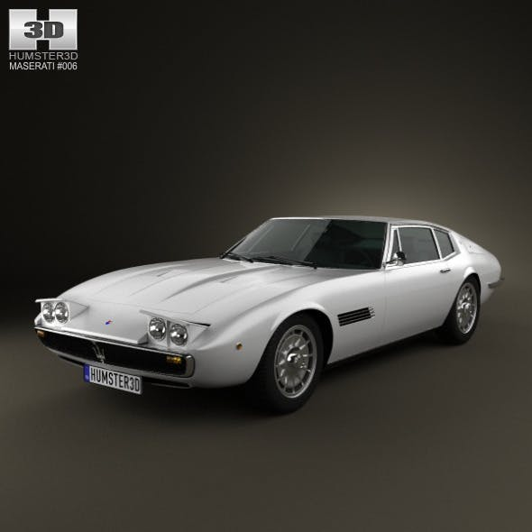 Maserati Ghibli coupe 1967 - 3DOcean Item for Sale