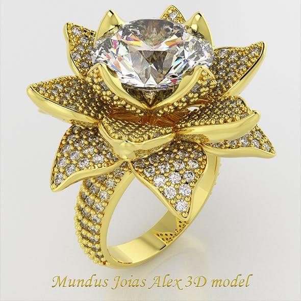 MUNDUSJOIAS Diamond Rose Ring