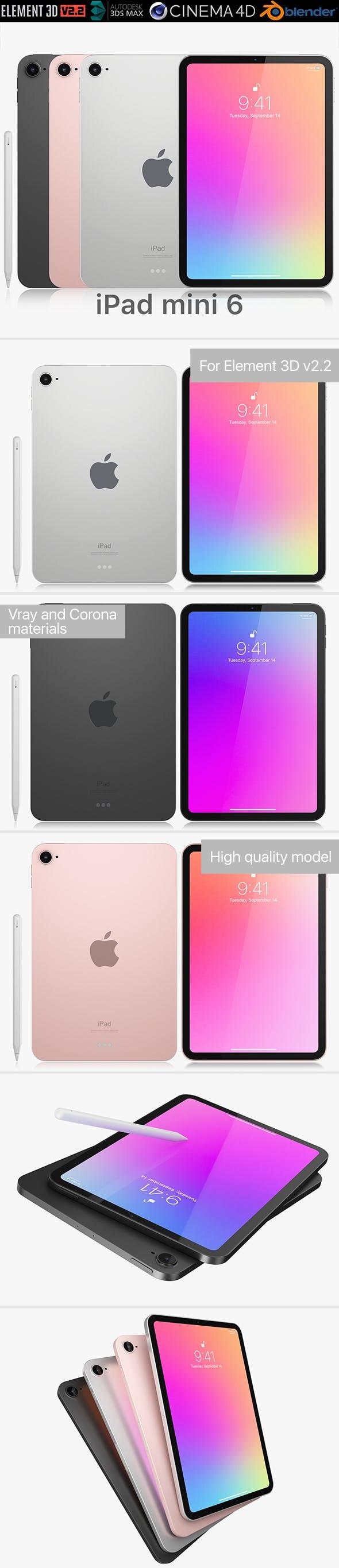Apple iPad mini 6 - 3DOcean Item for Sale