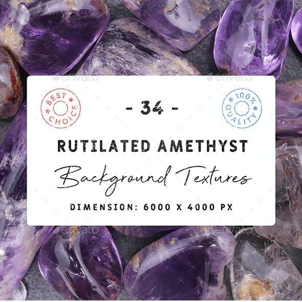 34 Rutilated Amethyst Background Textures