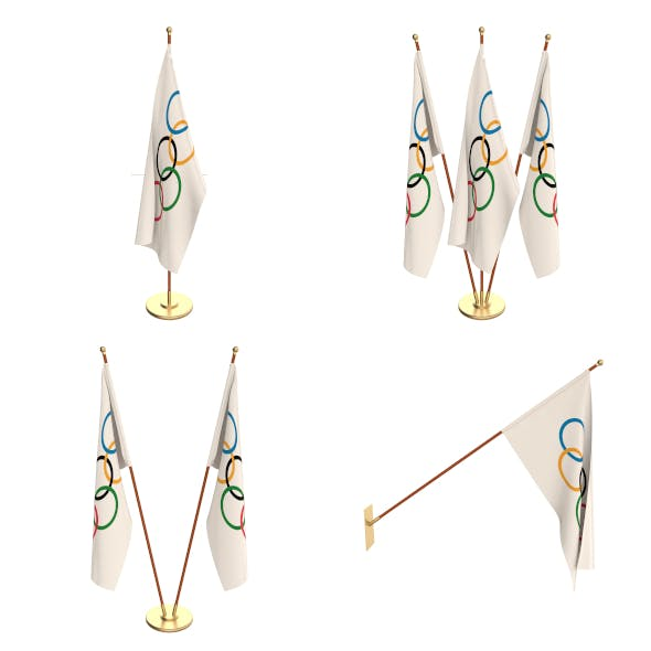 Olympic Flag Pack - 3DOcean Item for Sale
