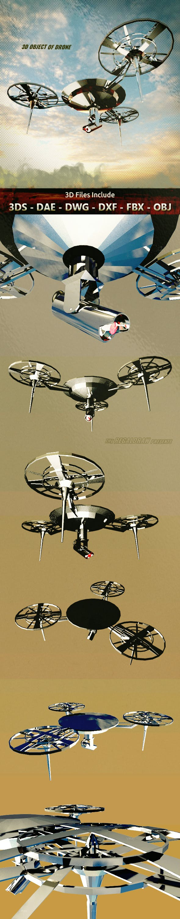3D Object of Drone - 3DOcean Item for Sale