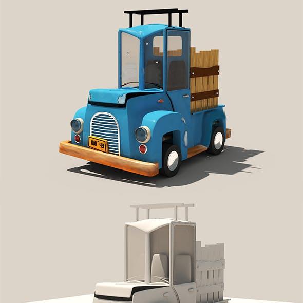stylized car cartoon