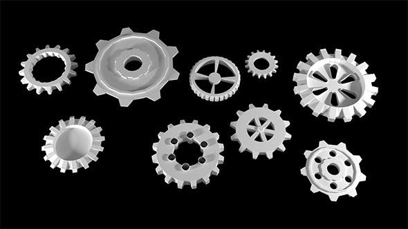 Different types of gears - 3DOcean Item for Sale