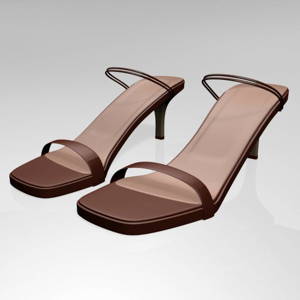 Square-Toe High-Heel Strappy Sandals 02