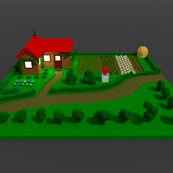 Voxel Farm House