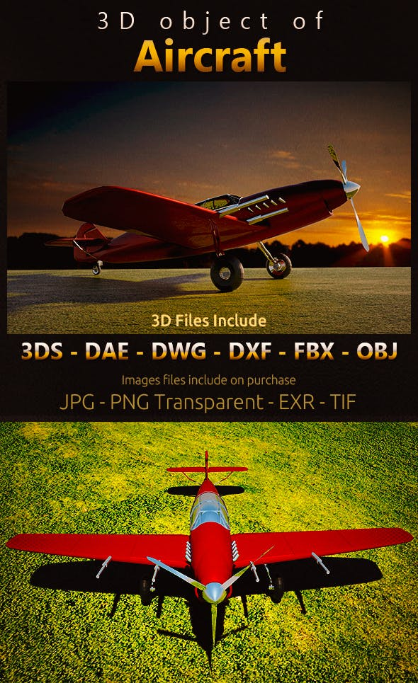 3D object of Aircraft - 3DOcean Item for Sale