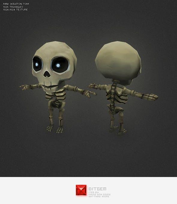 Low Poly Mini Skeleton Tom - 3DOcean Item for Sale