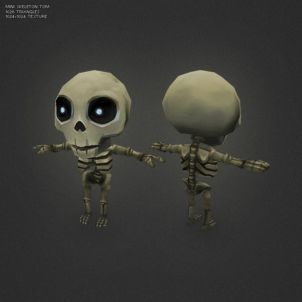 Low Poly Mini Skeleton Tom